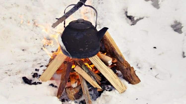 how to make a swedish log fire