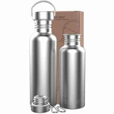 TRIPLE TREE Uninsulated Single Walled Stainless Steel Sports Water Bottle review