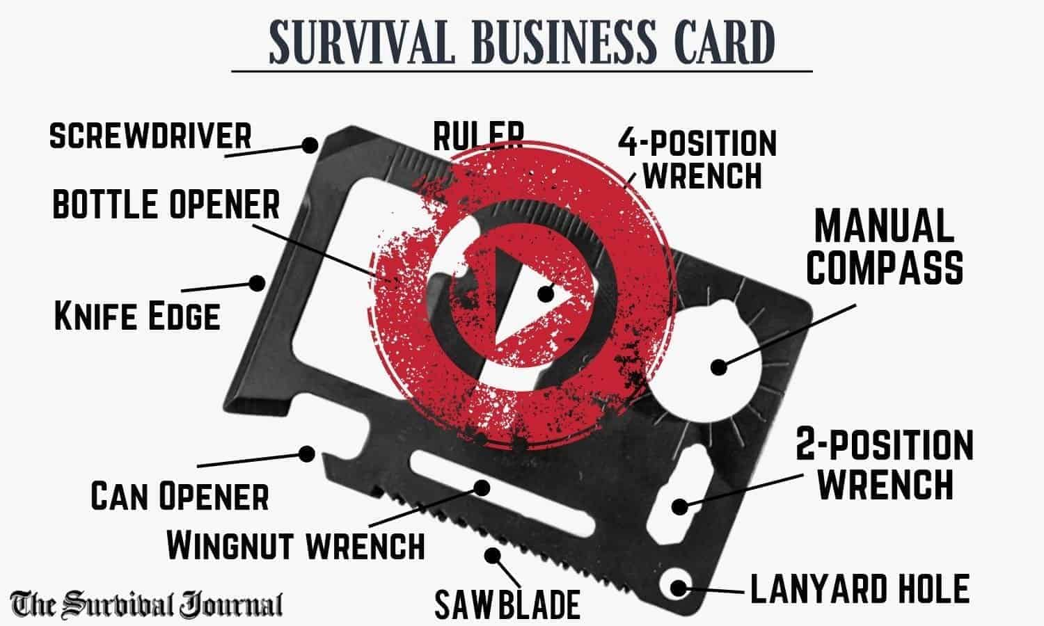 survival business card video