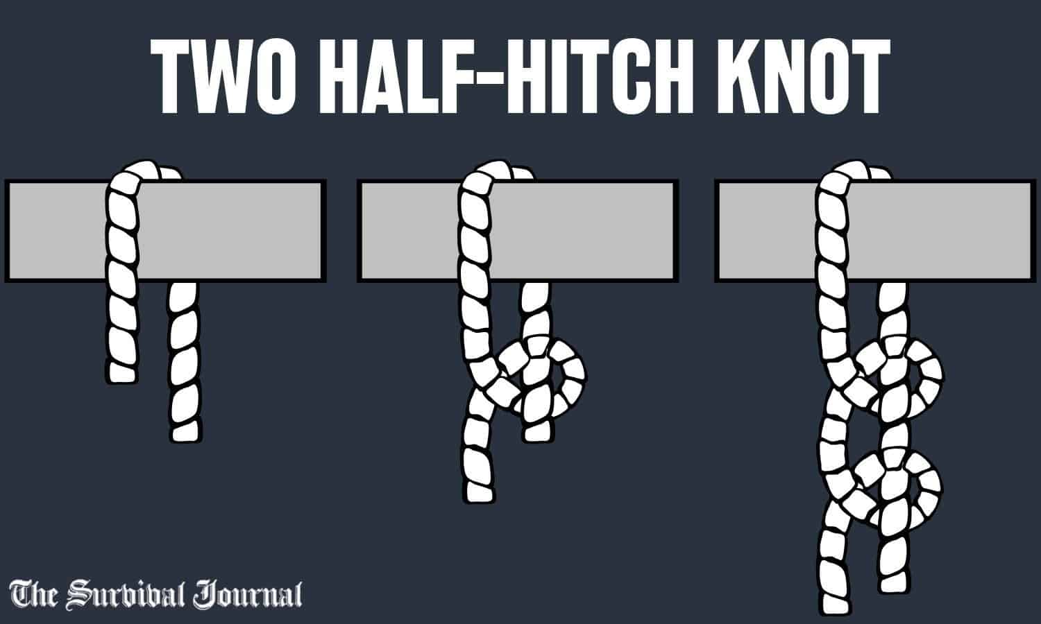 two half-hitches knot